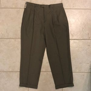 NWT! Men's Claiborne 40 Tan/Taupe Pleated  Pants